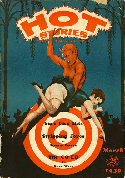Hot Stories pulp cover, March 1930.