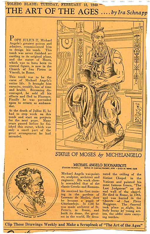 Moses by Michelangelo by Schnapp