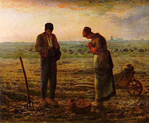 Evening Prayer - Angelus by Millet