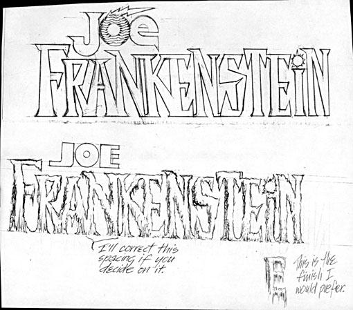 Joe Frankenstein logo sketches