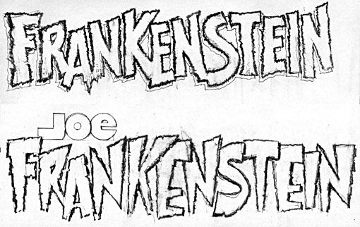More Joe Frankenstein logo sketches