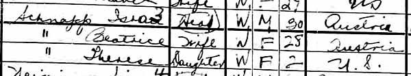 1925 Israel Schnapp New York State CensusBlog