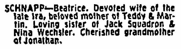 1977_10_04 Beatrice Schnapp NYTBlog