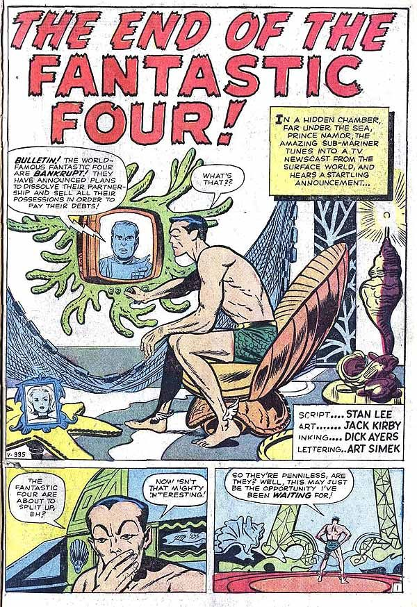 Fantastic Four #9 page 1.