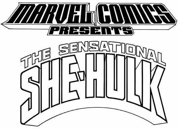 Todd Klein logos for Marvel Comics Presents and The Sensational She-Hulk.