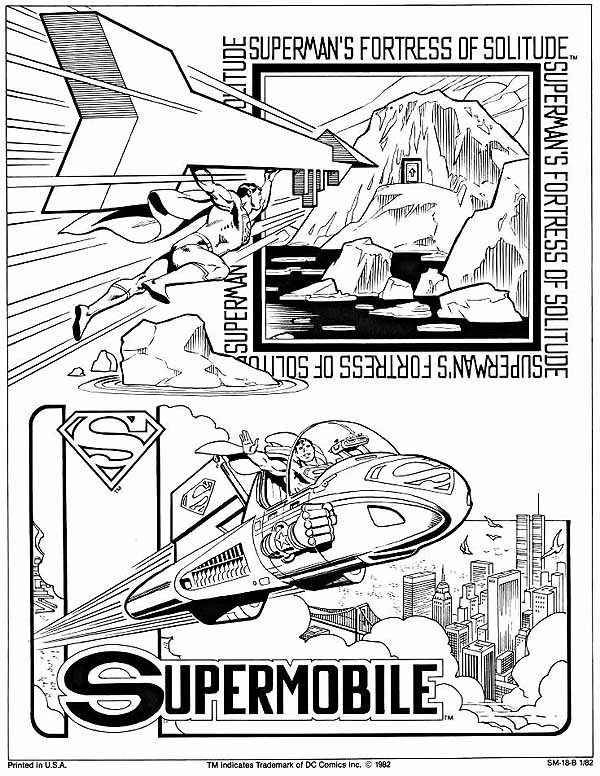 Superman page from the DC Style Guide.