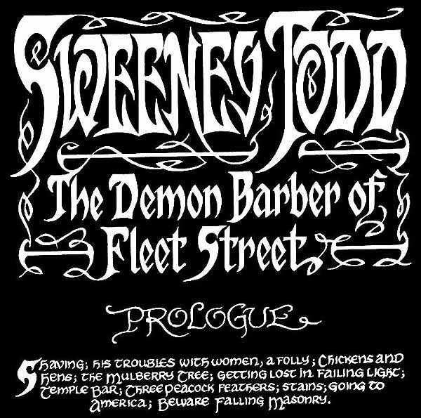 Sweeney Todd title page.
