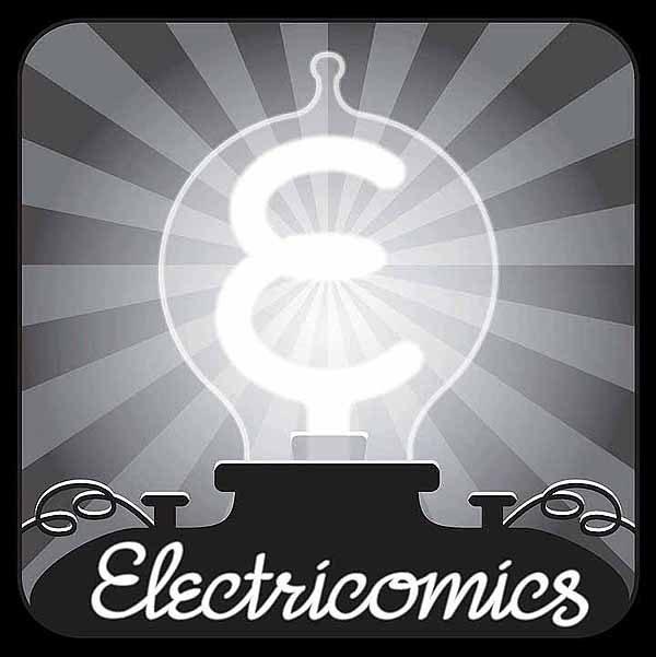 Electricomics logo by Todd Klein.