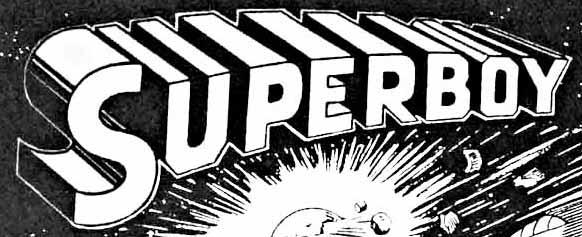 First Superboy logo by Ira Schnapp