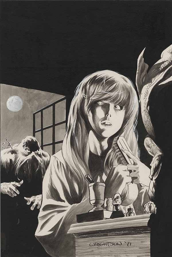 HOS 92 original cover art by Bernie Wrightson