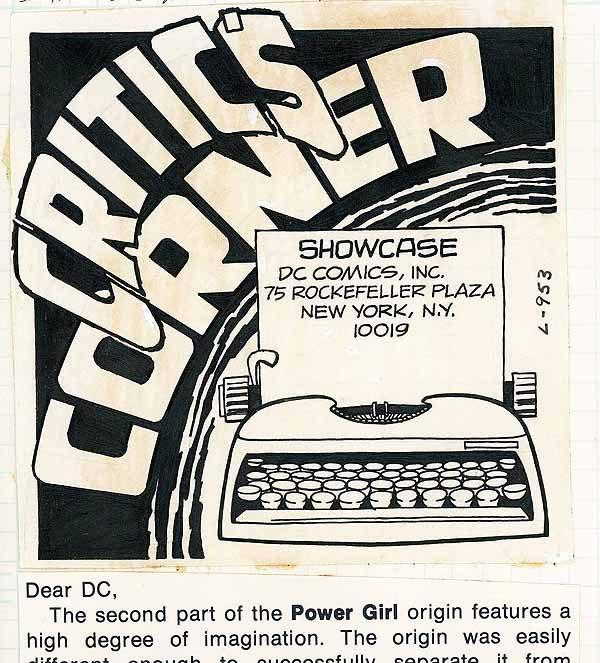 Critics Corner lettercolumn header.