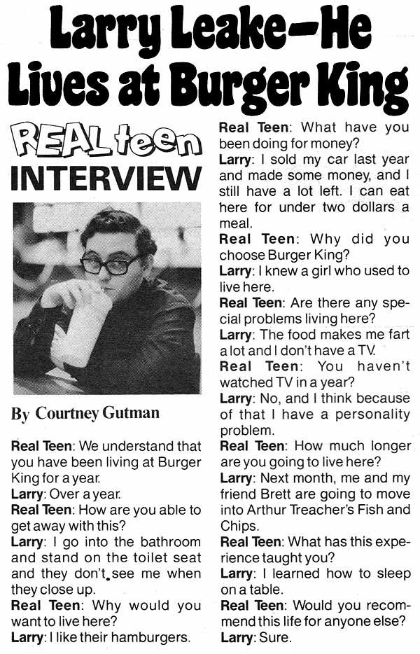From National Lampoon 1978