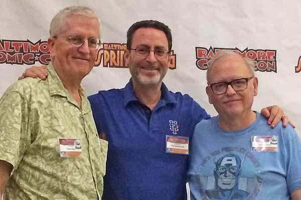 Todd Klein, Bob Greenberger and John Workman 2017