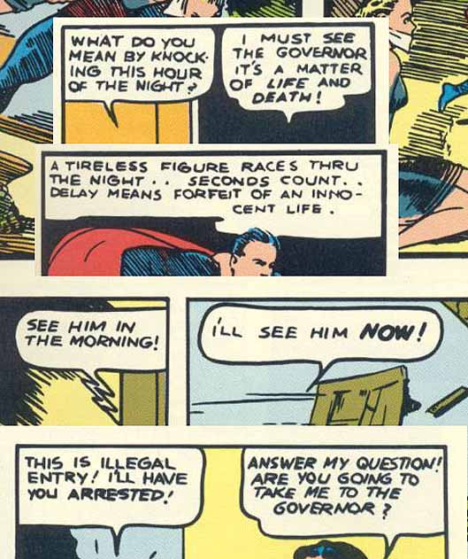 Superman 1 lettering