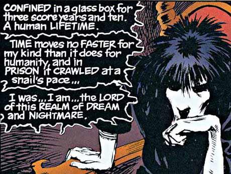 Sandman #1 panel.