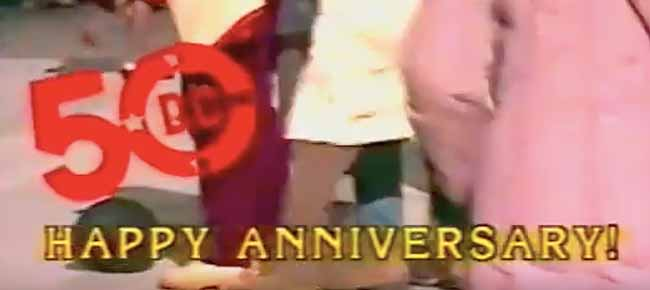 DC Comics 50th Anniversary video title