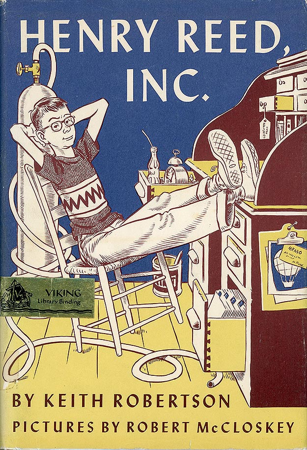 Front cover of Henry Reed, Inc. art by Robert McCloskey.