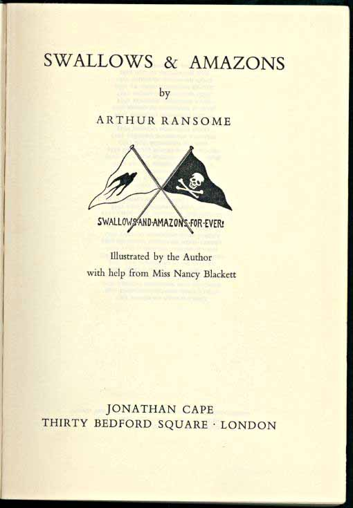 Swallows and Amazons title page